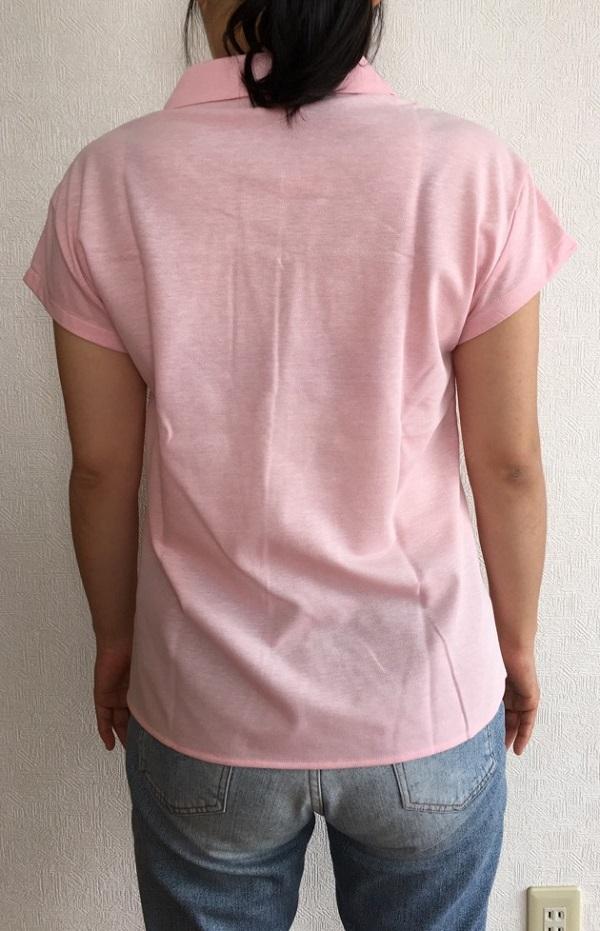 NEWYORKER・ポロシャツ風フレアデザイン半袖シャツの着画