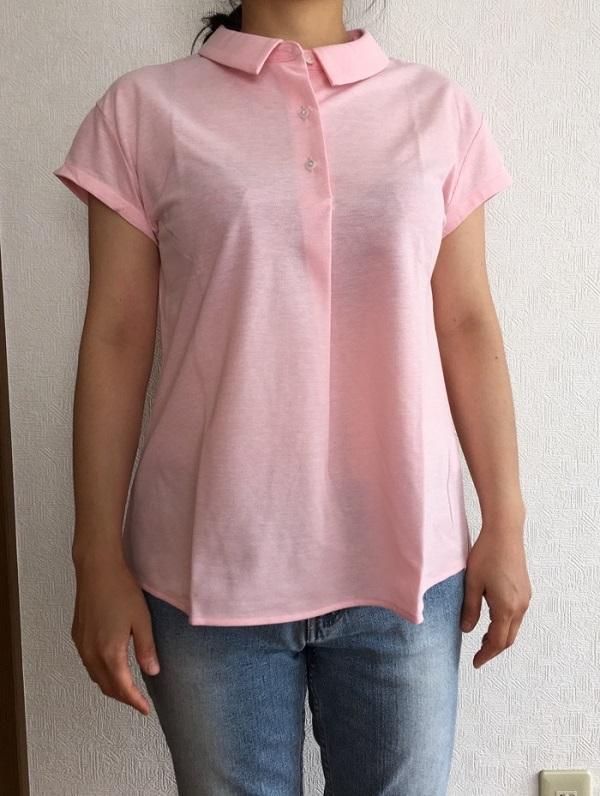 NEWYORKER・ポロシャツ風フレアデザイン半袖シャツ