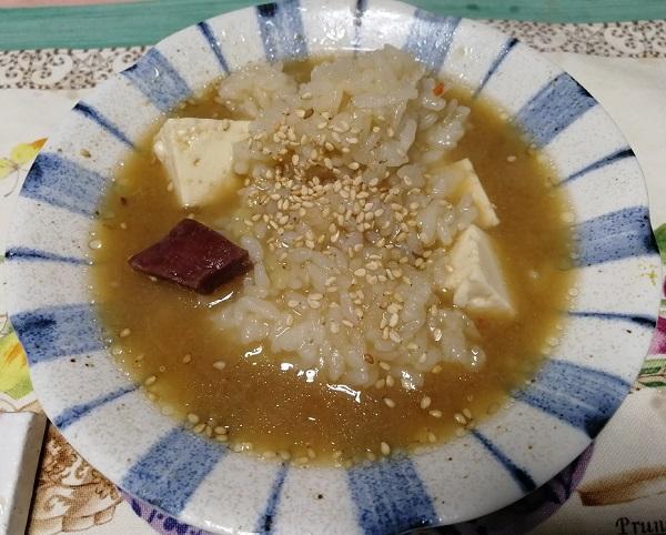 博多若杉のもつ鍋の雑炊
