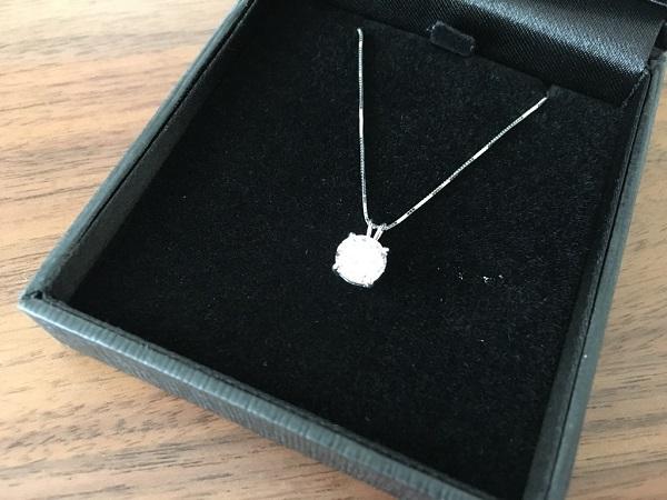 ニューヨークからの贈り物(1.25カラット ネックレス シルバー925 プラチナコーティング)