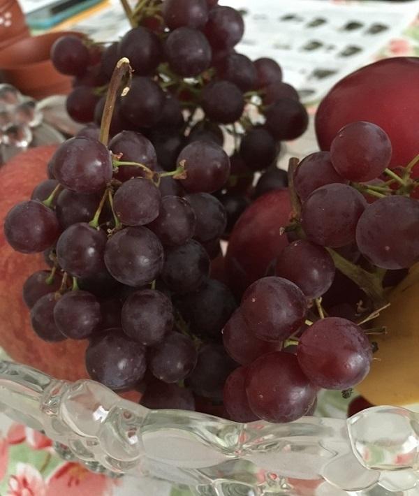 葡萄の表面のブルーム
