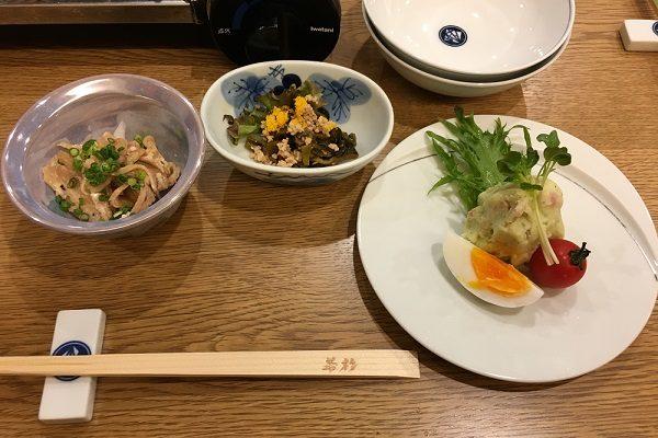 博多若杉・もつ鍋コースの小鉢