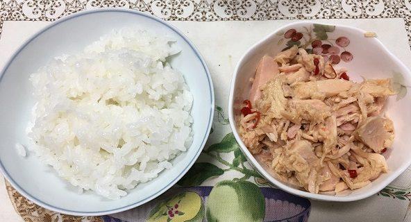 モンマルシェのオーシャンプリンセスホワイトツナ・国産赤唐辛子ツナとご飯