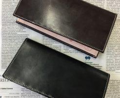 グレンチェック・GLENCHECKのブライドルレザー長財布