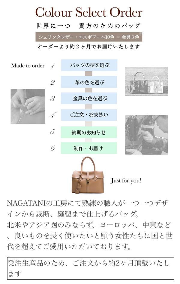 ナガタニ(NAGATANI)のカラーセレクトオーダーの注文手順