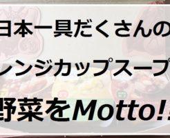 日本一具だくさんのレンジカップスープ『野菜をMotto!!』