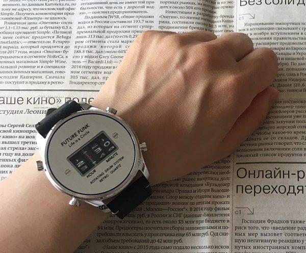 FUTURE FUNK(フューチャーファンク)の腕時計を装着した画像