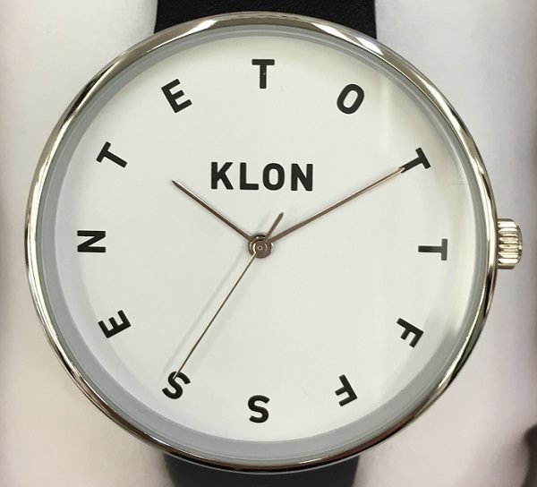 KLON(クローン)の腕時計『ALPHABET TIME』