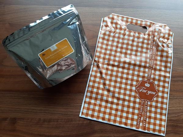 珈琲きゃろっとのコーヒー豆とプレゼント用の袋