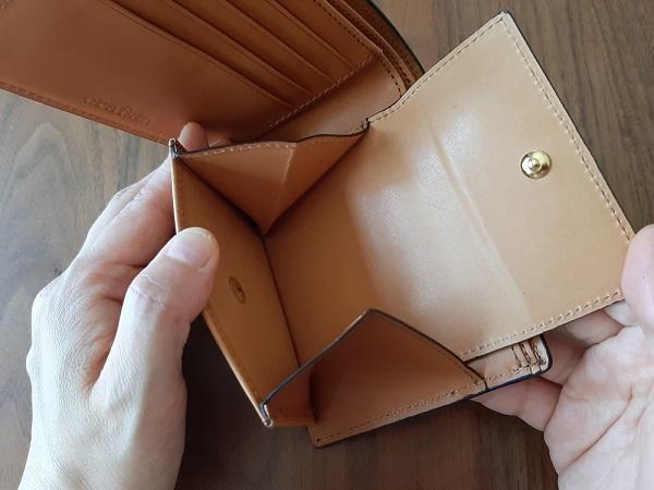 クラフスト(crafsto)のブライドルレザー 二つ折り財布の小銭入れ