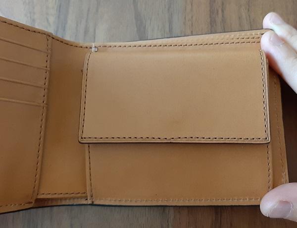 クラフスト(crafsto)のブライドルレザー 二つ折り財布の内装、小銭入れ部分