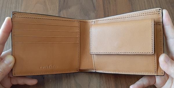 クラフスト(crafsto)のブライドルレザー 二つ折り財布の内装
