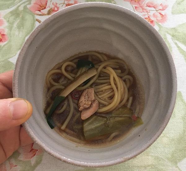 島本のもつ鍋のちゃんぽん麺