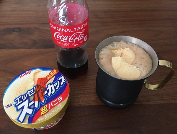 コパドアの銅製マグカップに淹れたコーラフロート